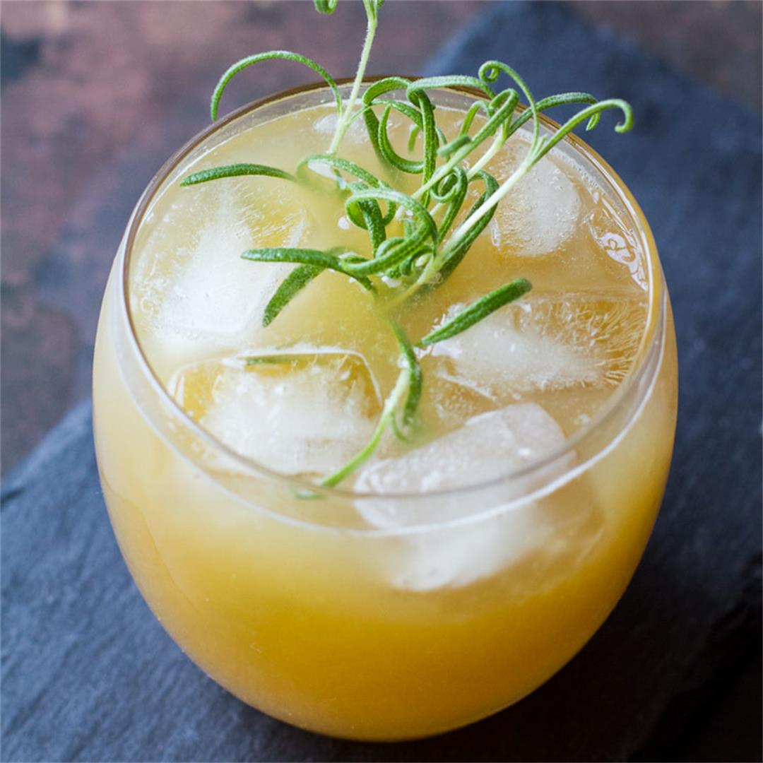 Penicillin Cocktail with Ginger, Lemon and Honey
