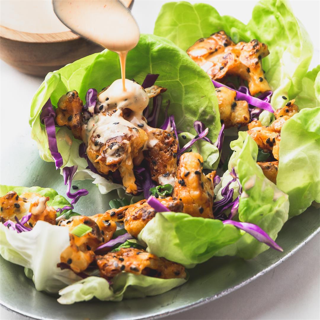 Crunchy Cauliflower Lettuce Wraps
