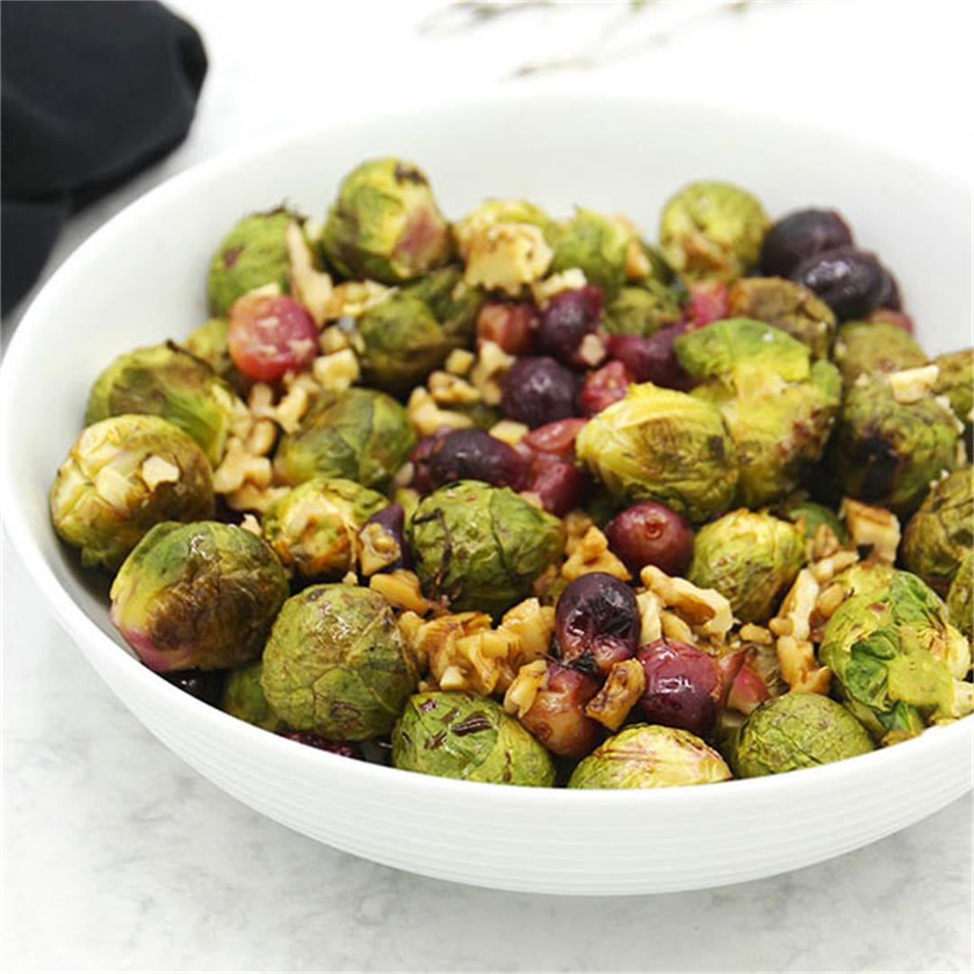 Everyday Brussels sprouts & grapes