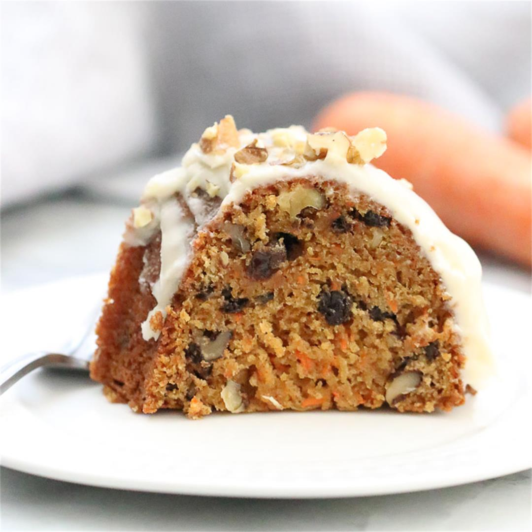 Easy Vegan Carrot Cake and Vegan Cream Cheese Frosting