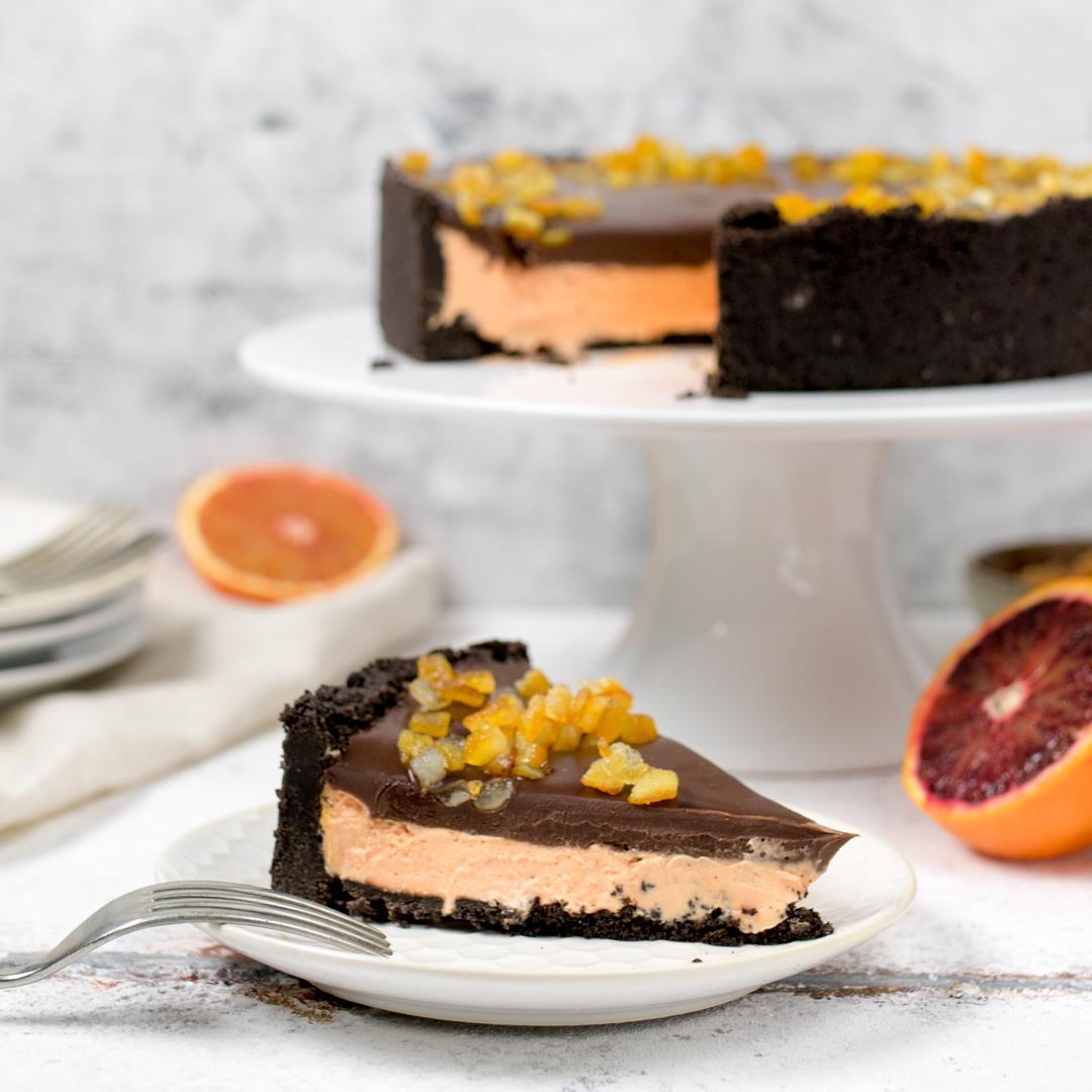 Chocolate Orange No-Bake Cheesecake