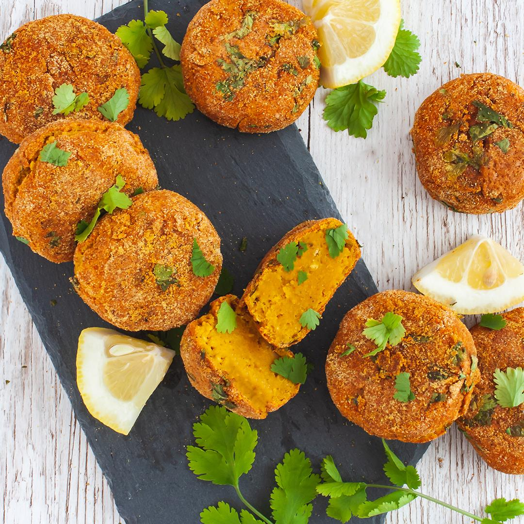 Baked Lentil and Sweet Potatoes Croquettes