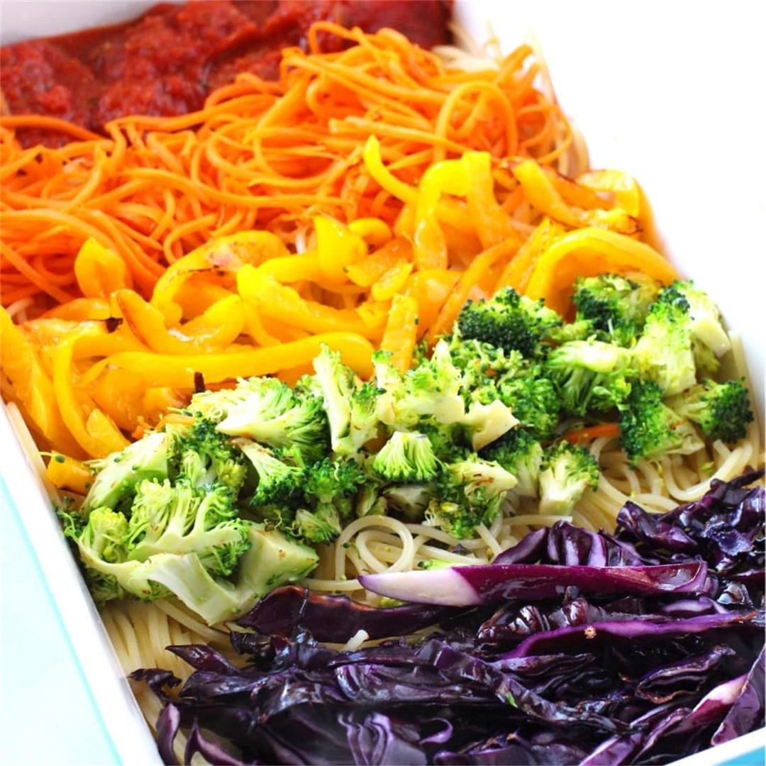 Rainbow Spaghetti recipe