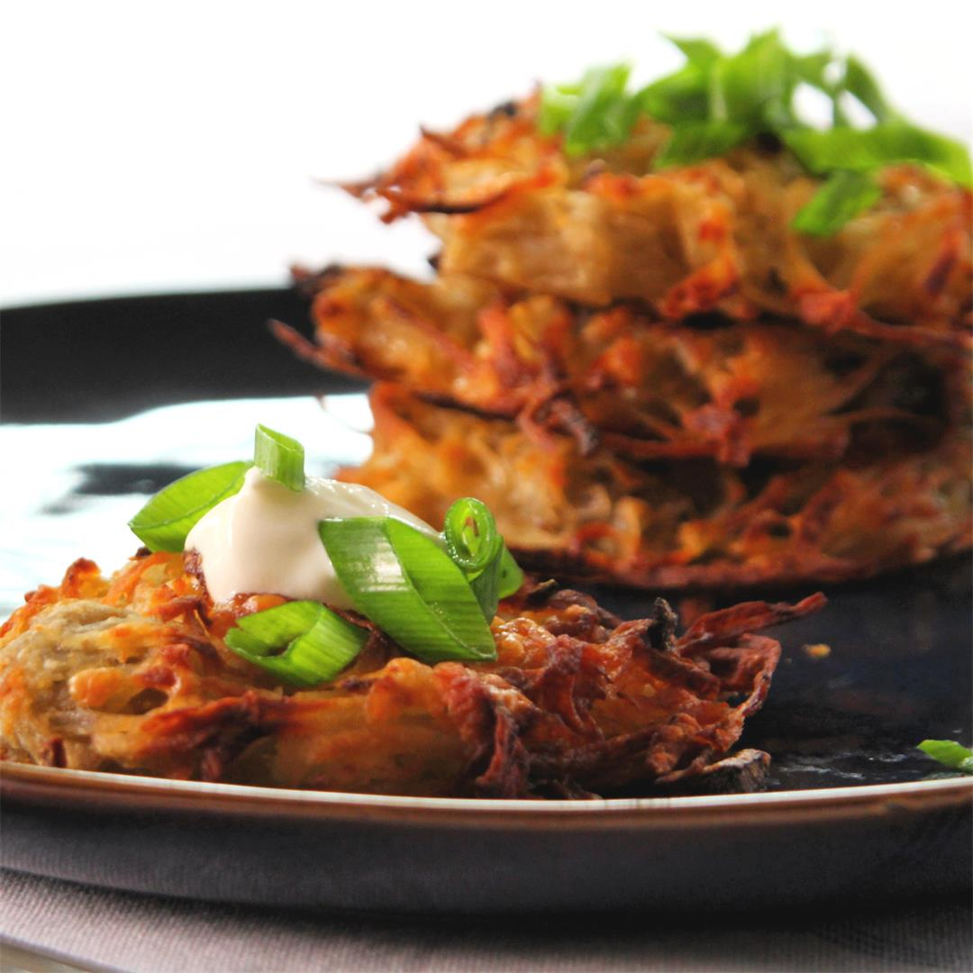 Oven-Baked Hash Brown Cakes
