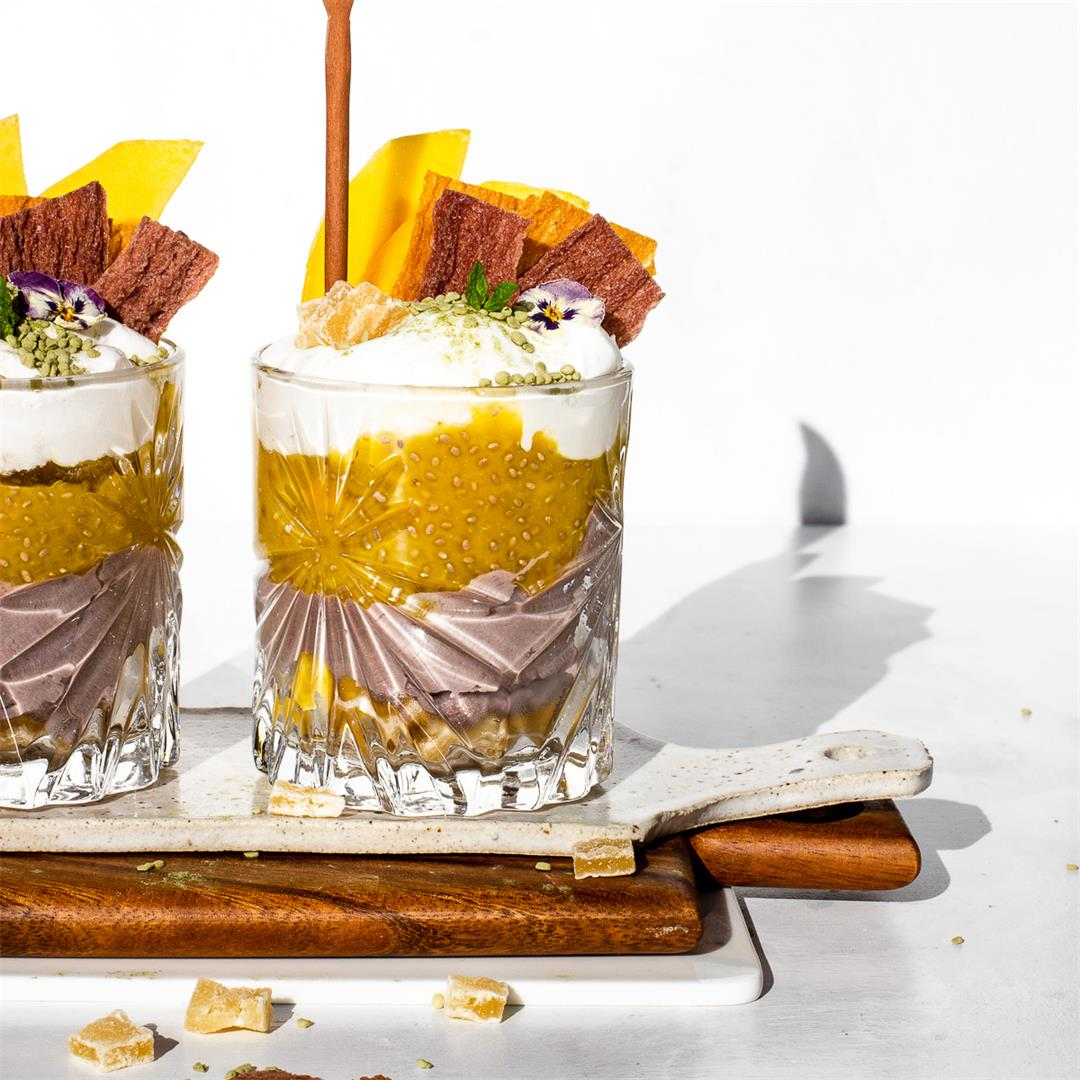 Vegan Halo Halo Chia Pudding