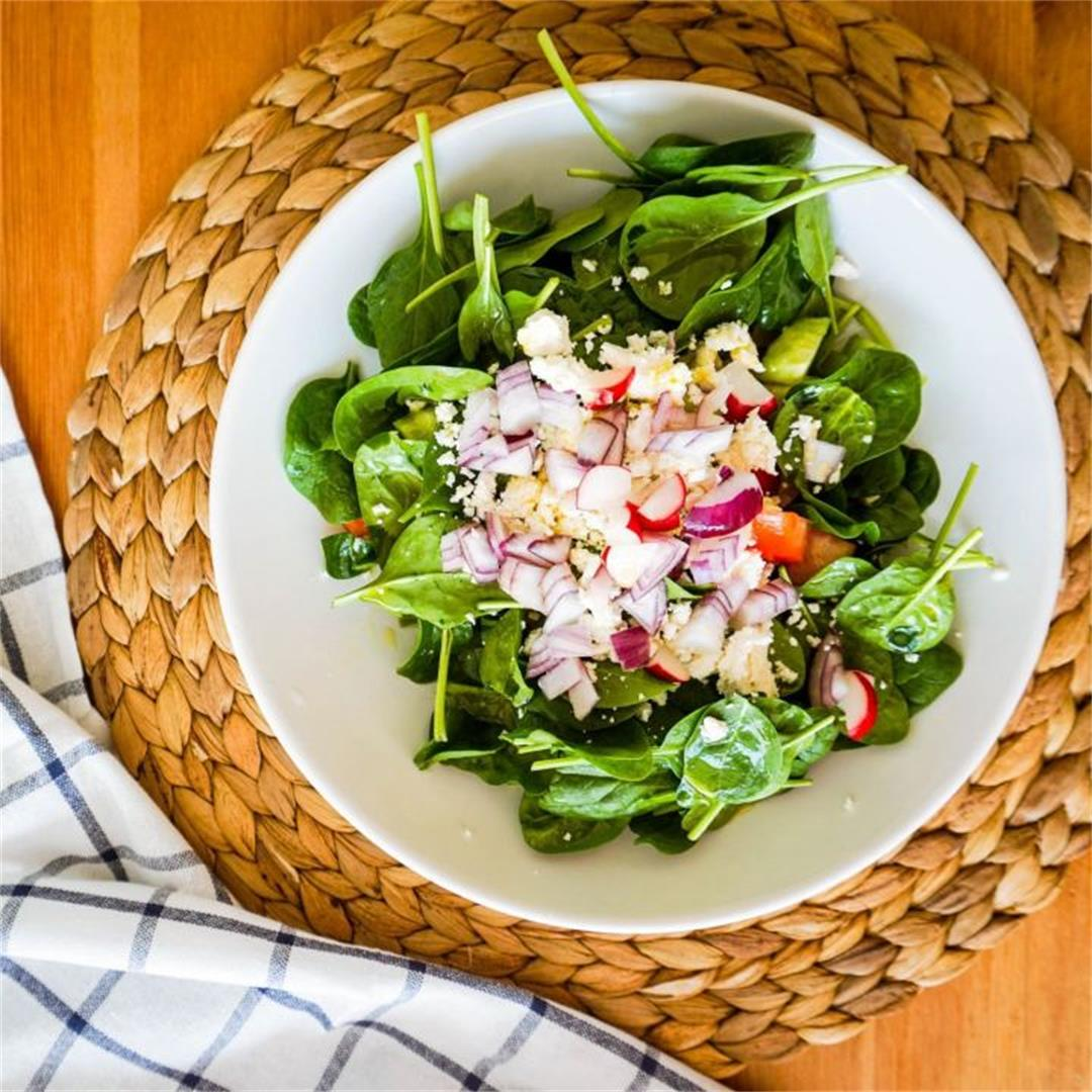 Spring Salad with Feta and Baby Spinach