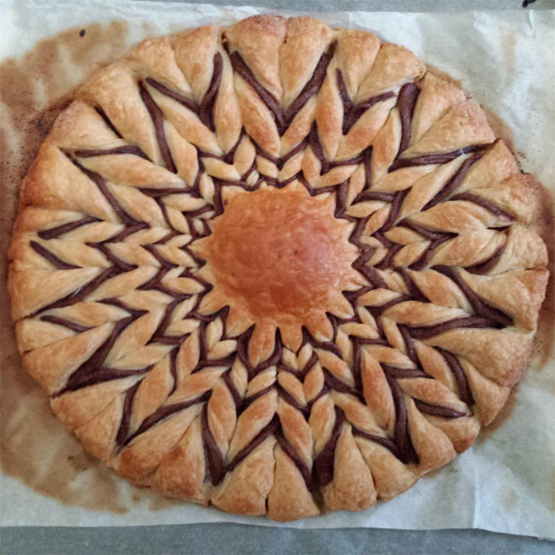 Nutella Sun Pastry : easy Nutella dessert