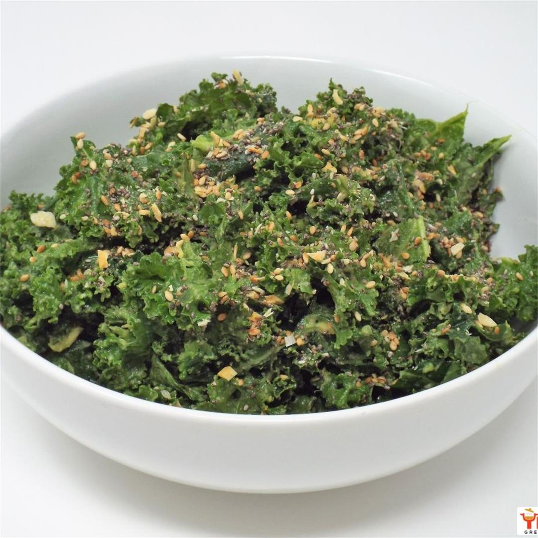 Kale Salad with Avocado and Everything Spice