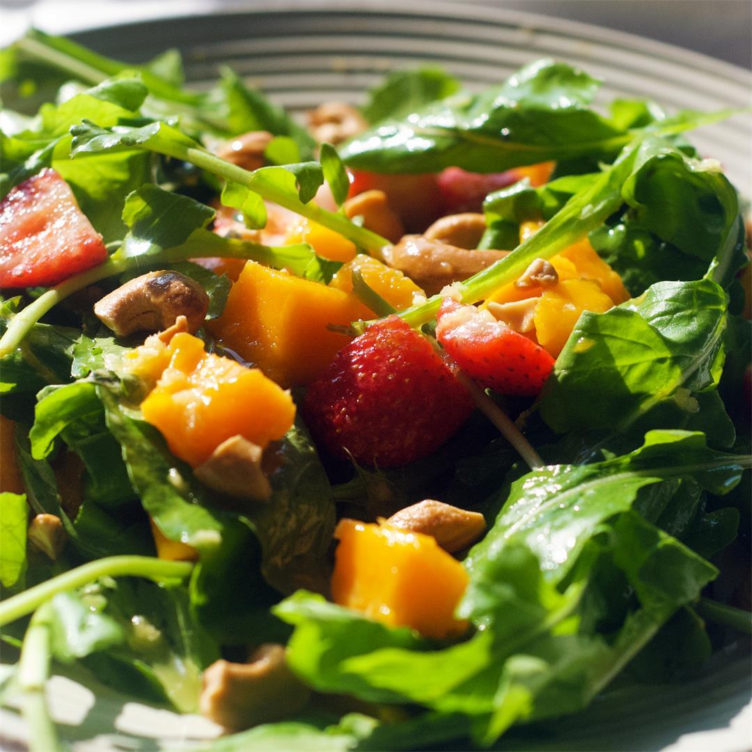 Ultimate Mango Strawberry Summer Salad