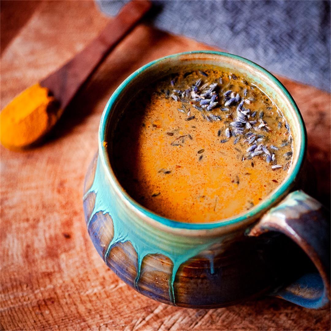 Golden Lavender Cacao Adaptogen Latte (Vegan)