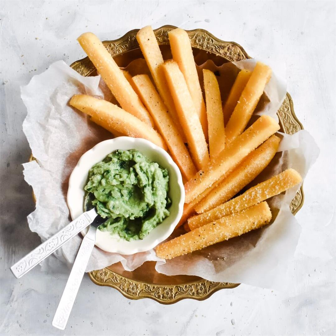 Crispy Baked Polenta Chips (vegan)