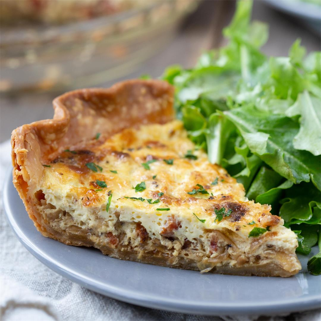 Alsatian Quiche with Bacon and Caramelized Onions