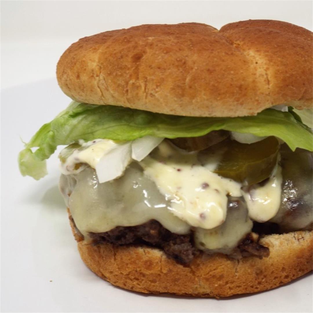 Buffalo Mushroom Cheeseburger