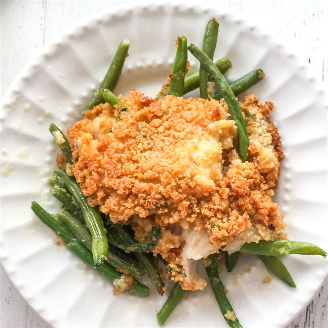 Low Carb Baked Fish with Green Beans