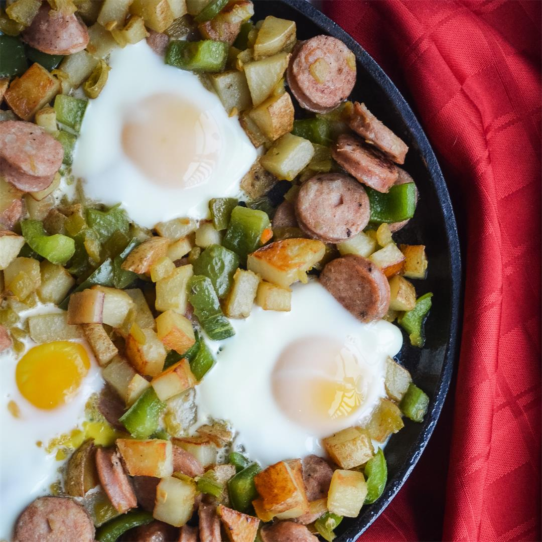 Green Chili Skillet Hash - Whole30, Paleo, Gluten-free