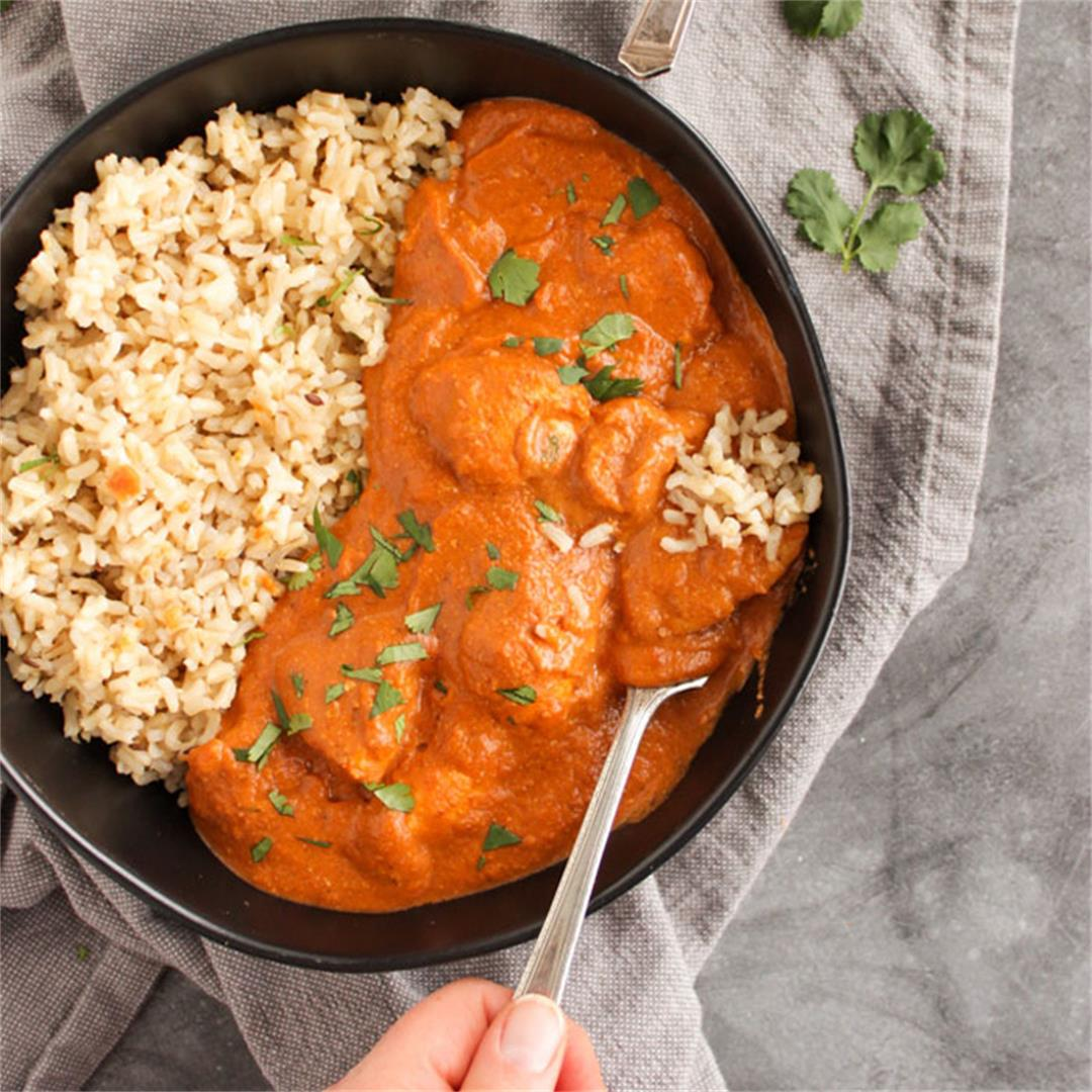 Lighter butter chicken (30 minutes)