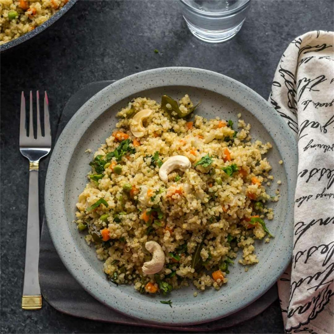 Vegetable Quinoa Pilaf (Pulao)