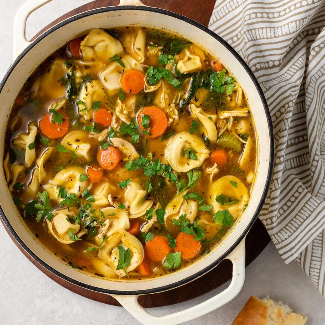Hearty Tortellini Chicken Noodle Soup