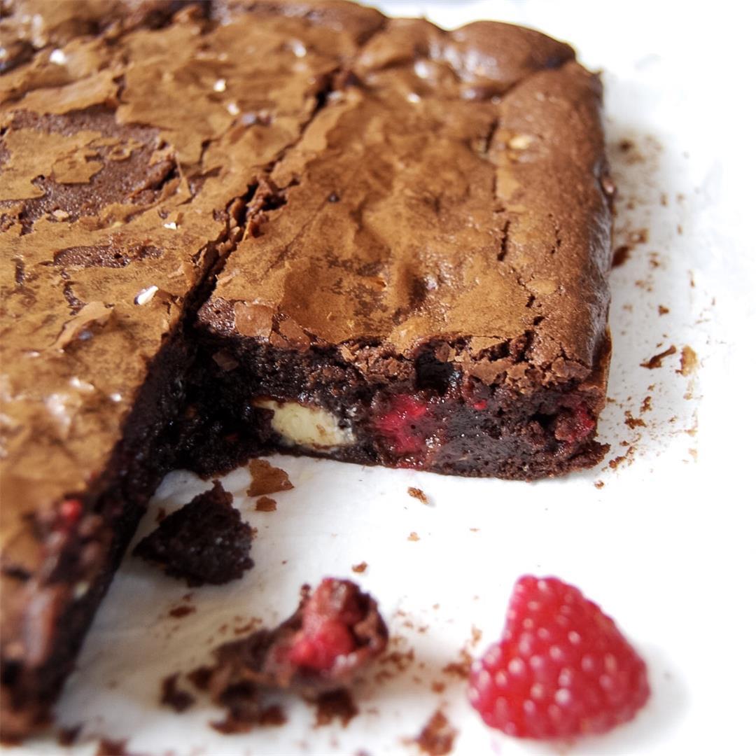 White Chocolate & Raspberry Brownies