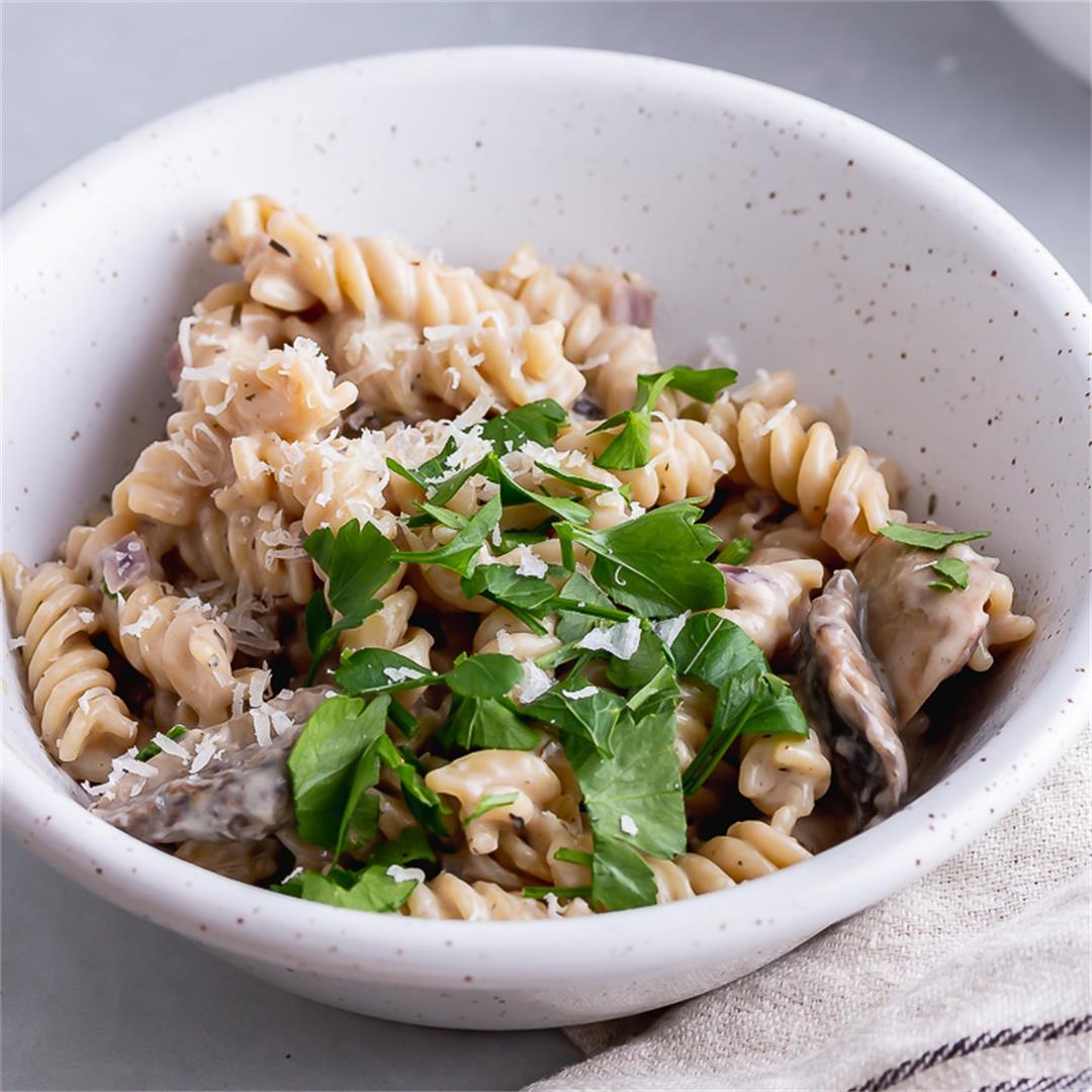 Pressure Cooker Creamy Mushroom Pasta