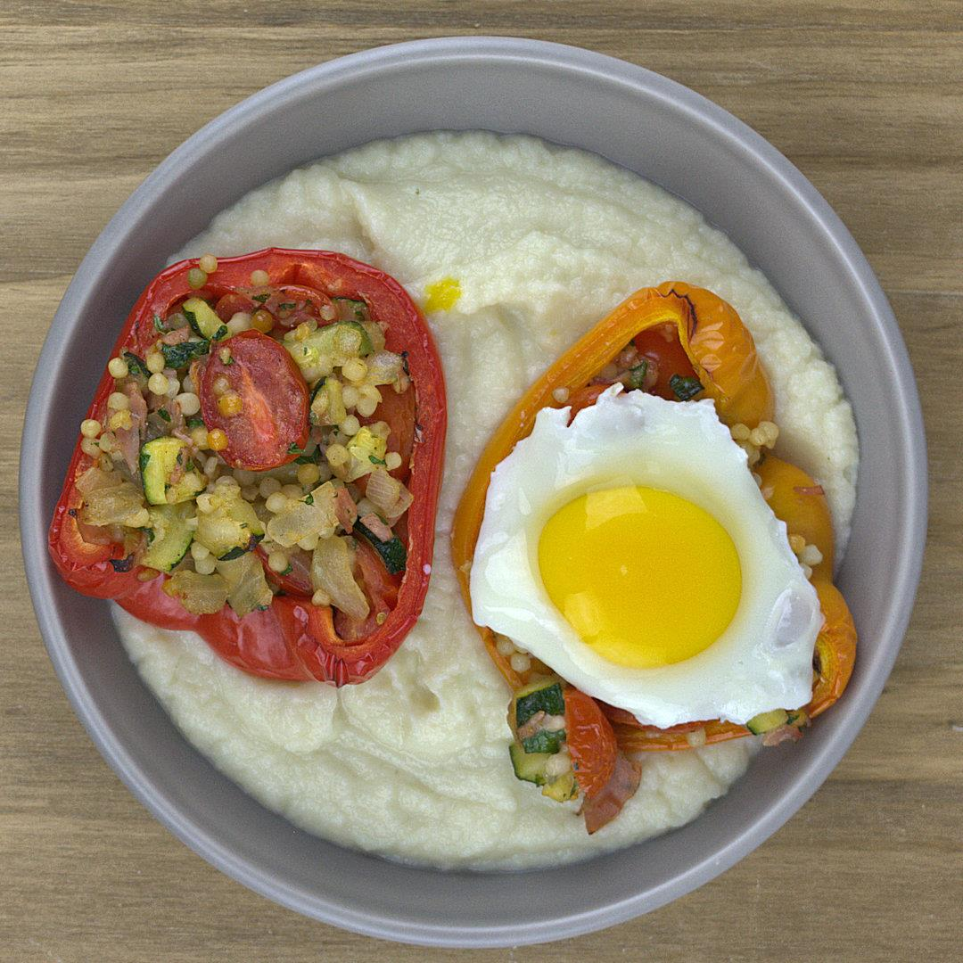 Stuffed Bell Peppers Sunny Side Up