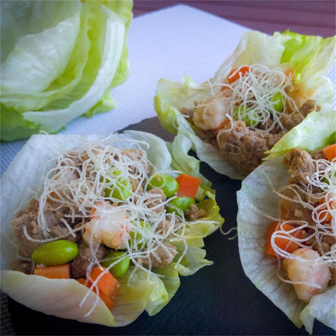 Lettuce Wrap with Crispy Noodles
