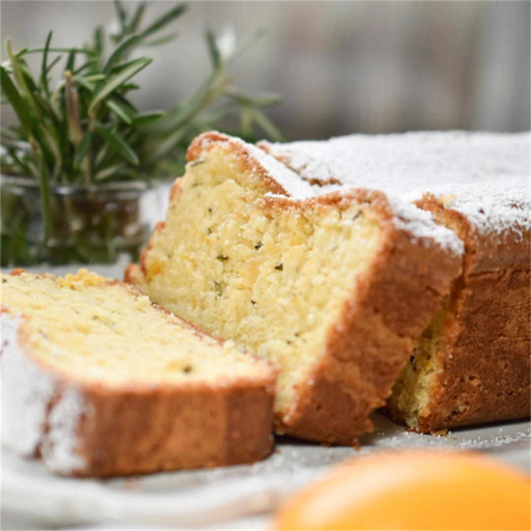 Meyer Lemon and Rosemary Cake