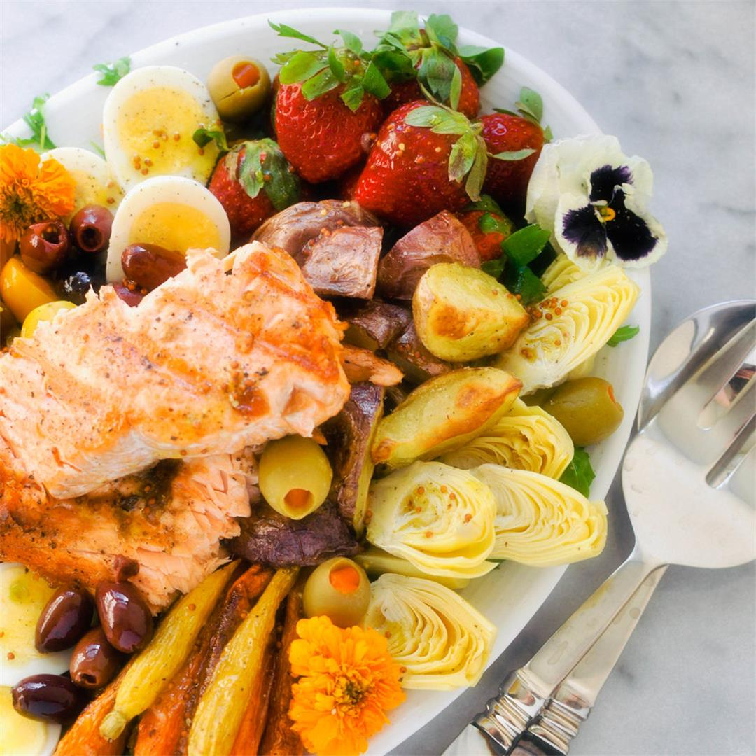 The Everything Salmon Salad Niçoise