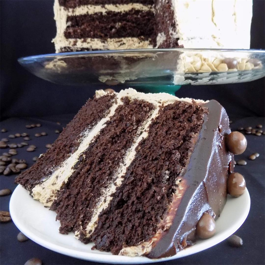 Chocolate Fudge Cake with Espresso Buttercream