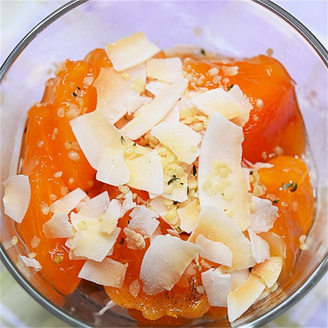 Persimmon Banana Chia Pudding