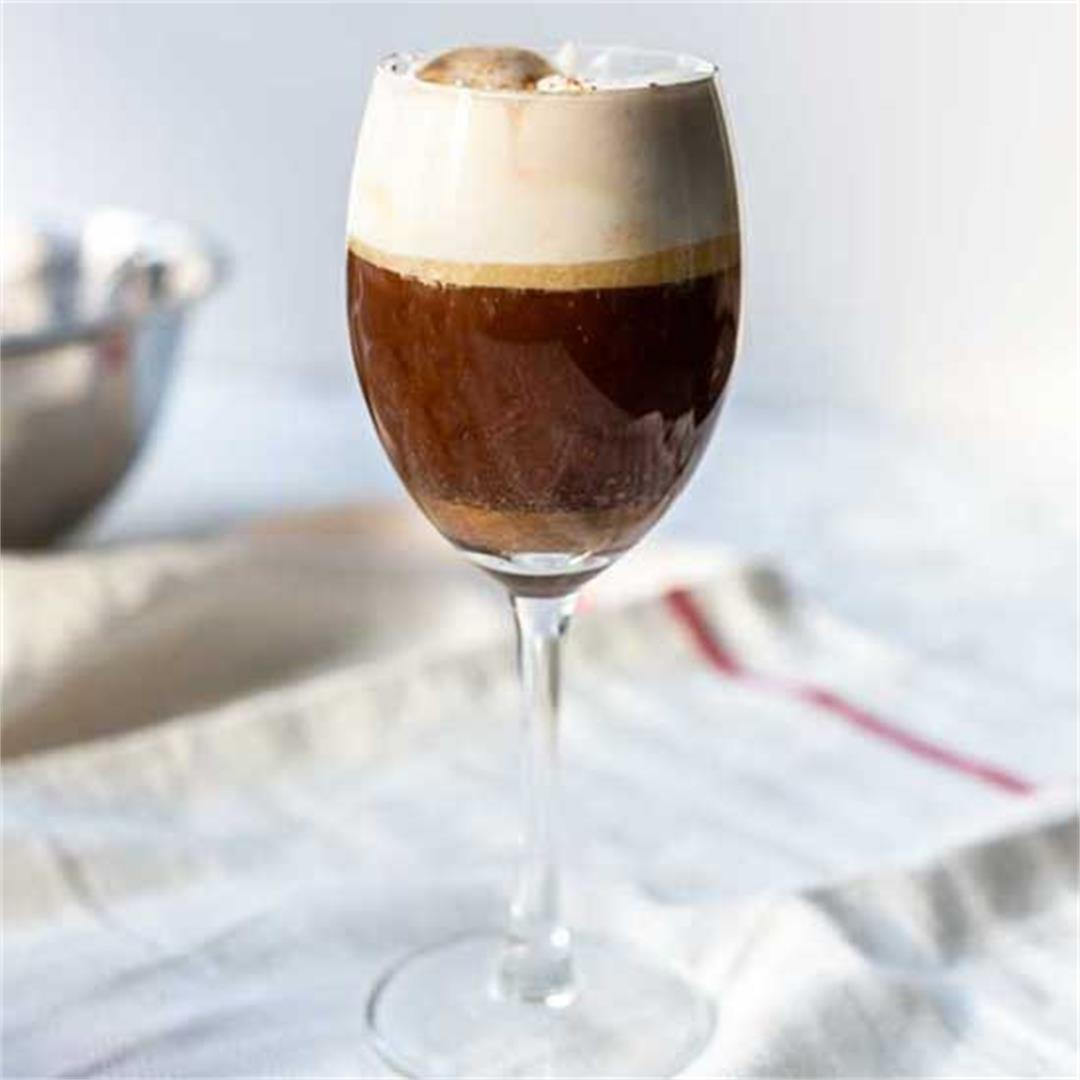 Spanish coffee with sweet liquor