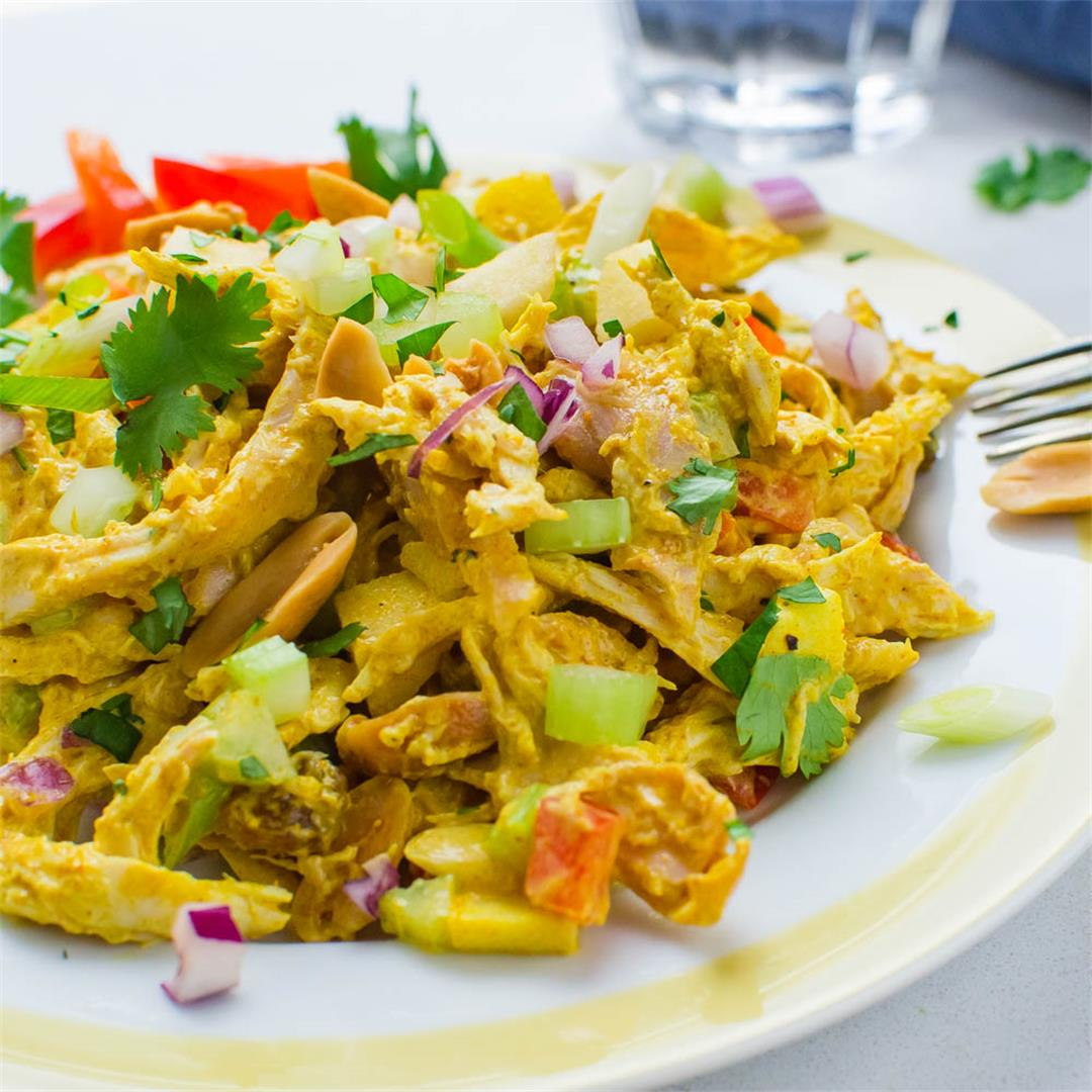 Curried Chicken Salad with Rotisserie Chicken
