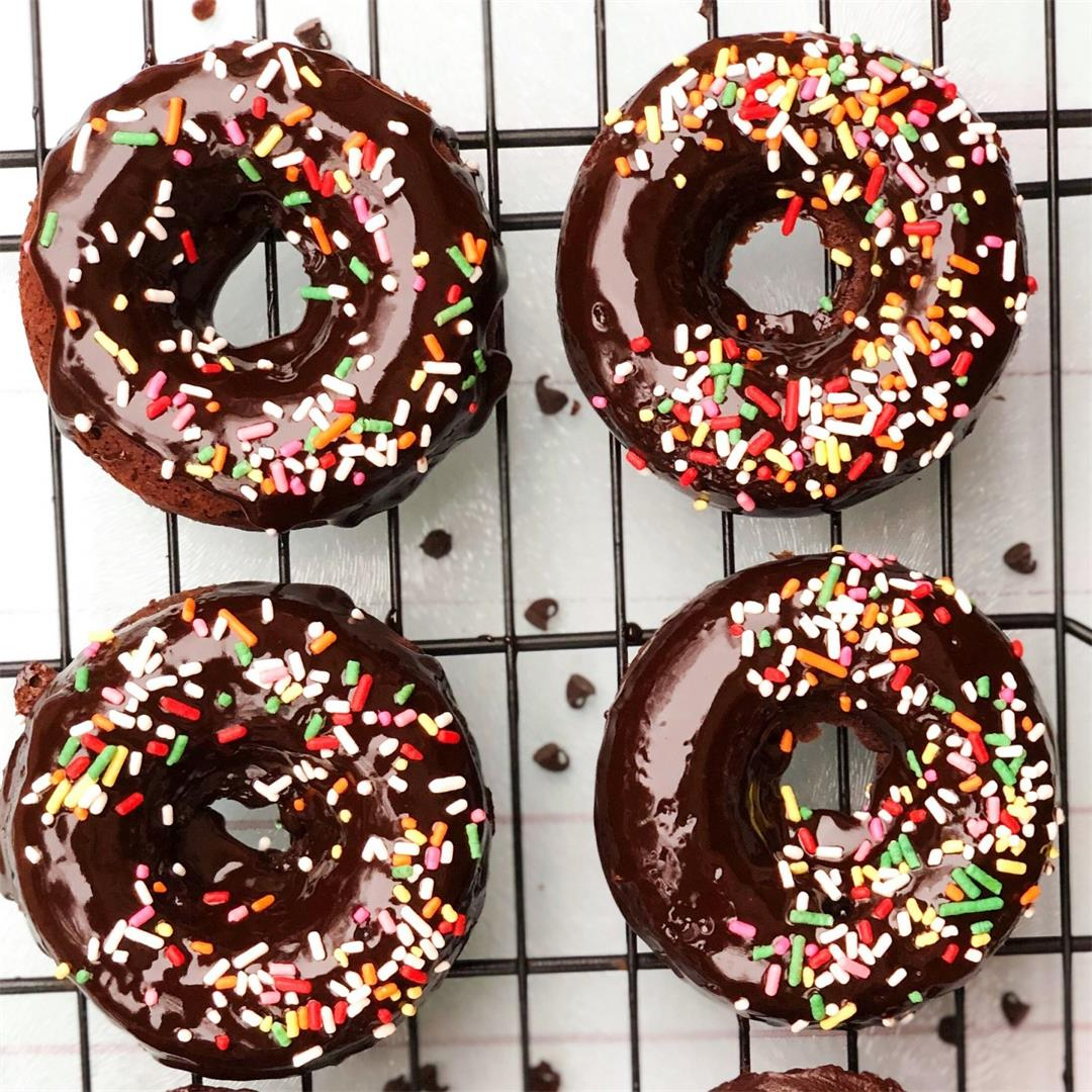 Baked Chocolate Donuts (Vegan Option in Recipe Notes)