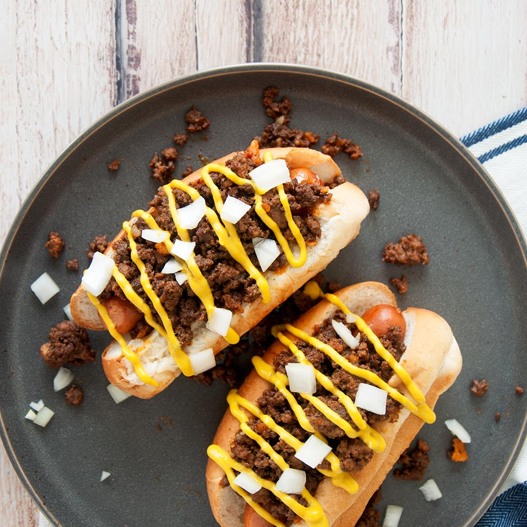 Detroit Coney Dog with Homemade Coney Sauce