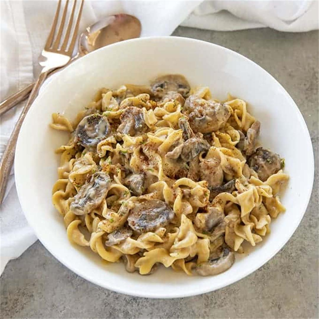 One Pot Mushroom Stroganoff