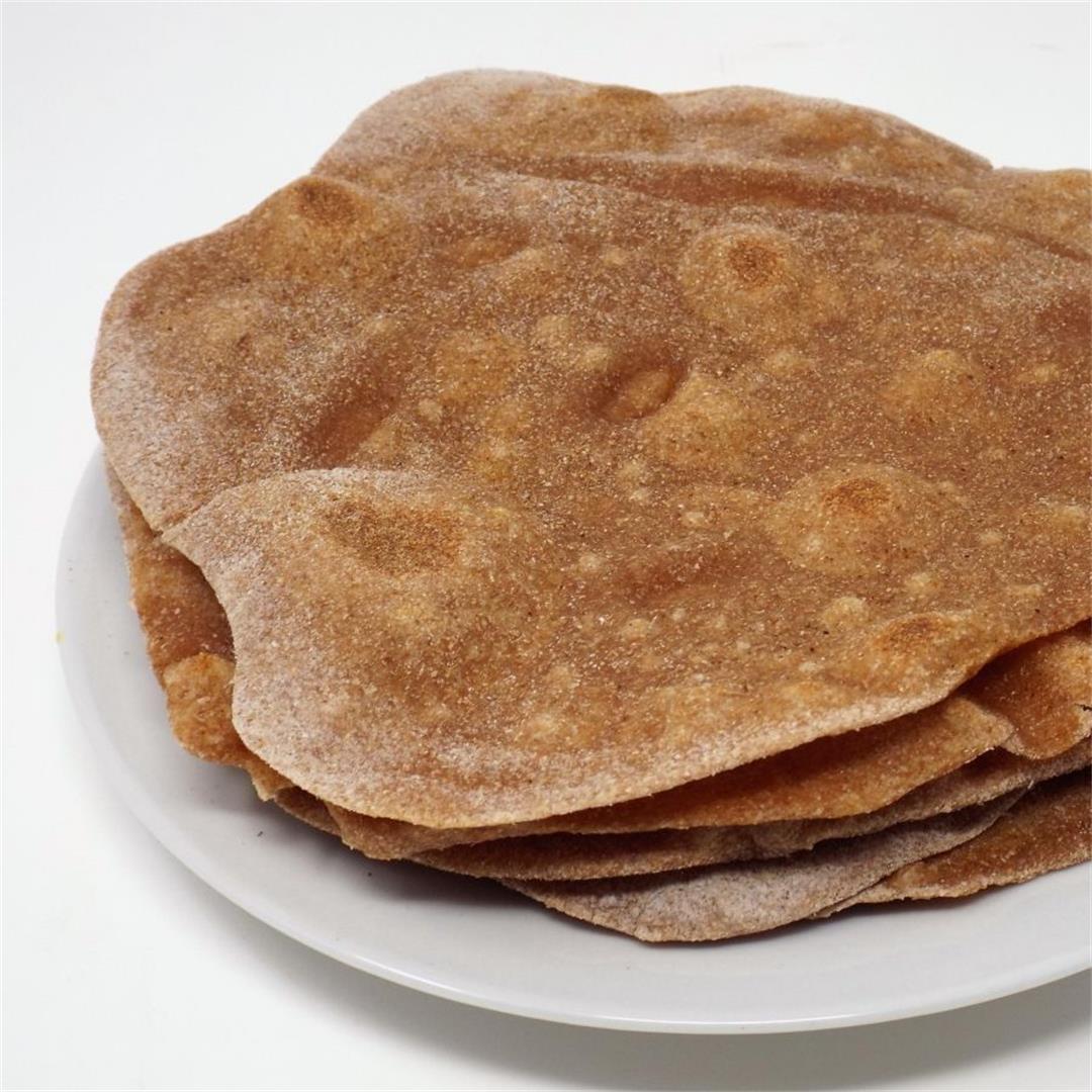 Chapati (Indian Roti Flatbread)