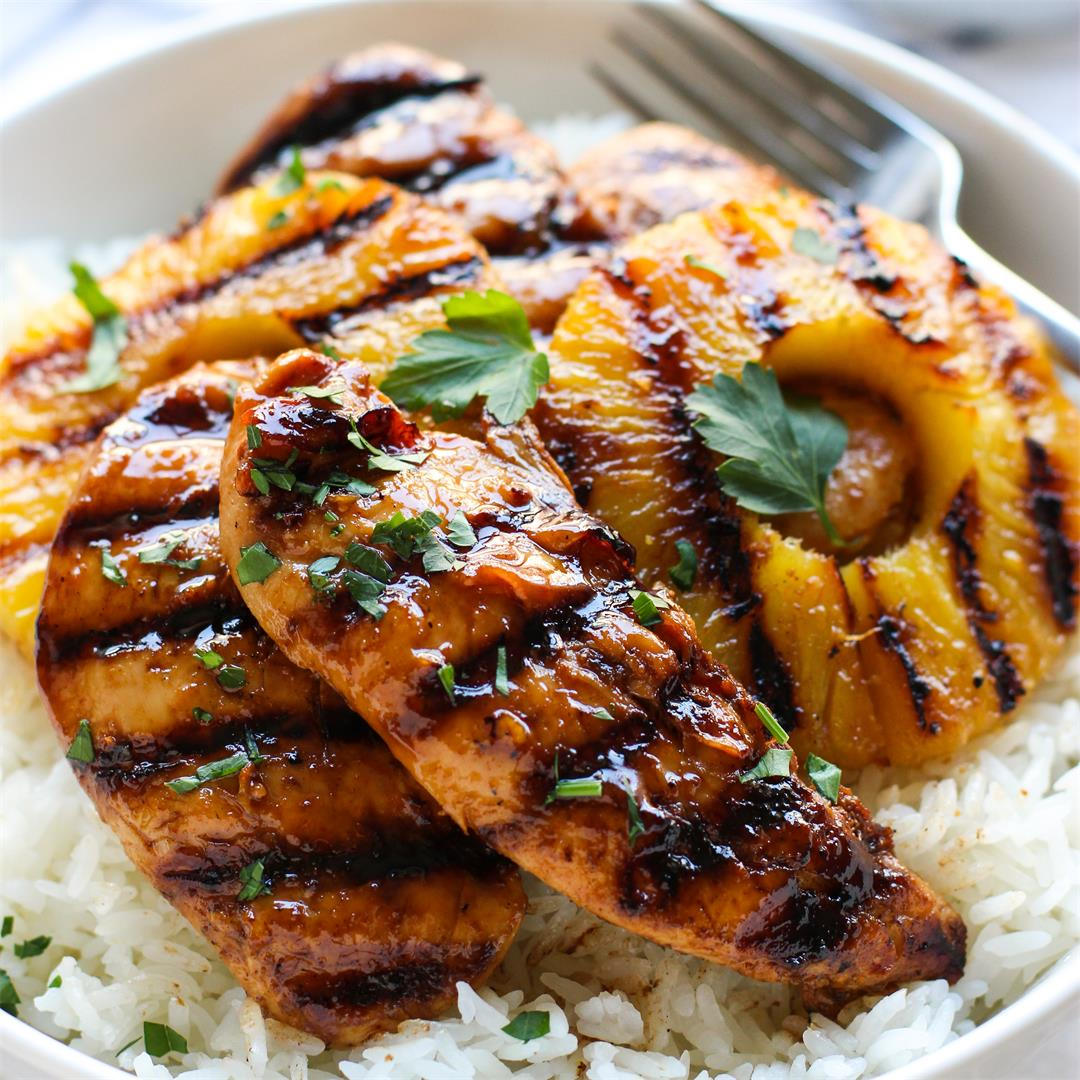 Hawaiian Chicken with Coconut Rice