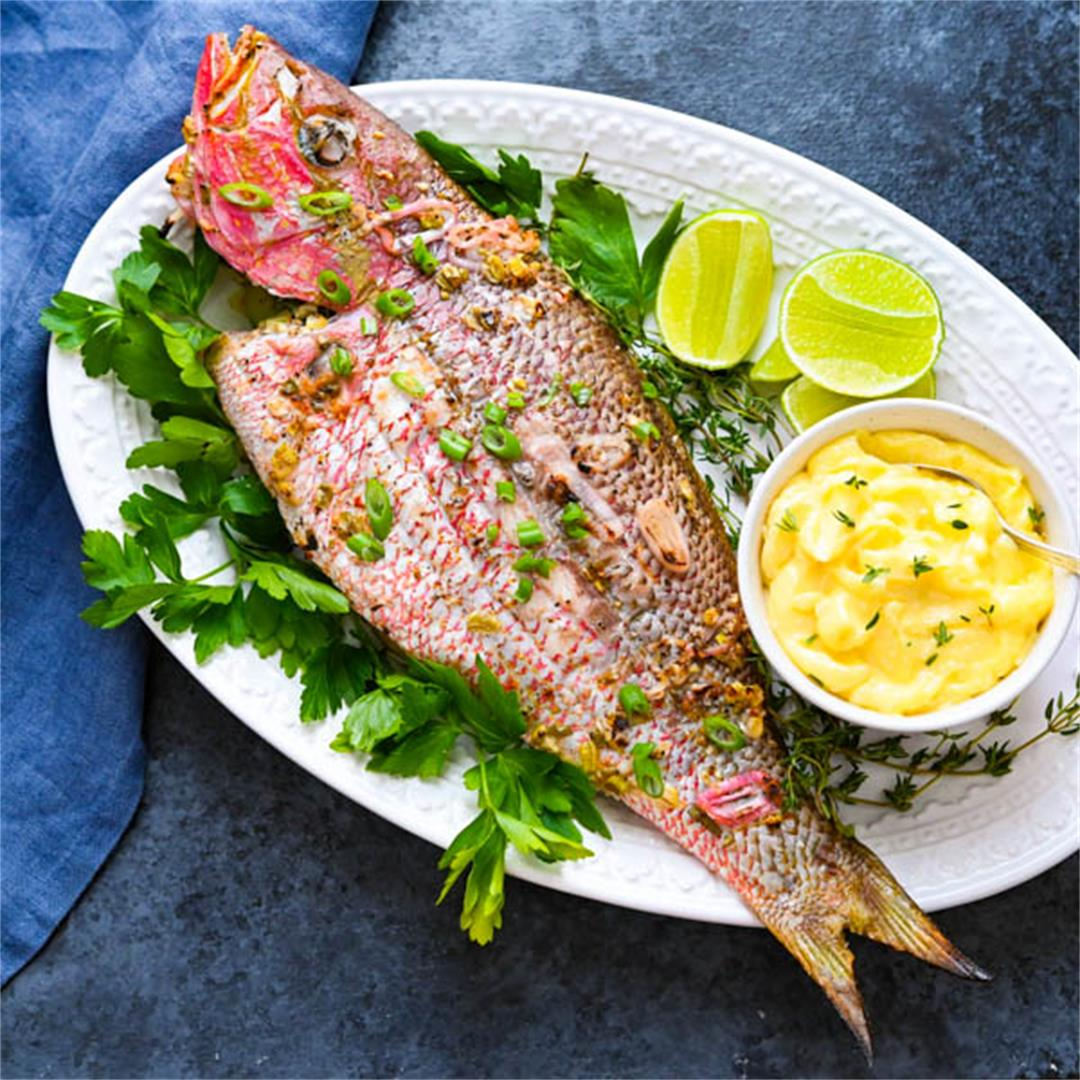 Caribbean Grilled Yellowtail Snapper