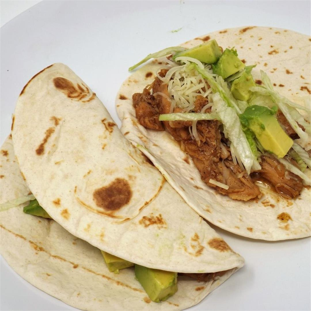 Ancho Chile Chicken Soft Tacos