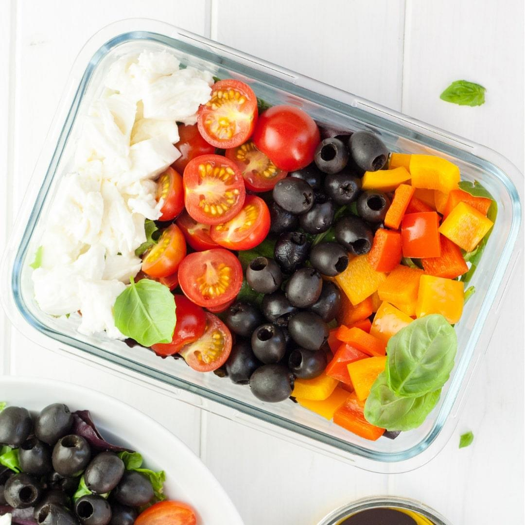 Easy Lunch Box Caprese Salad