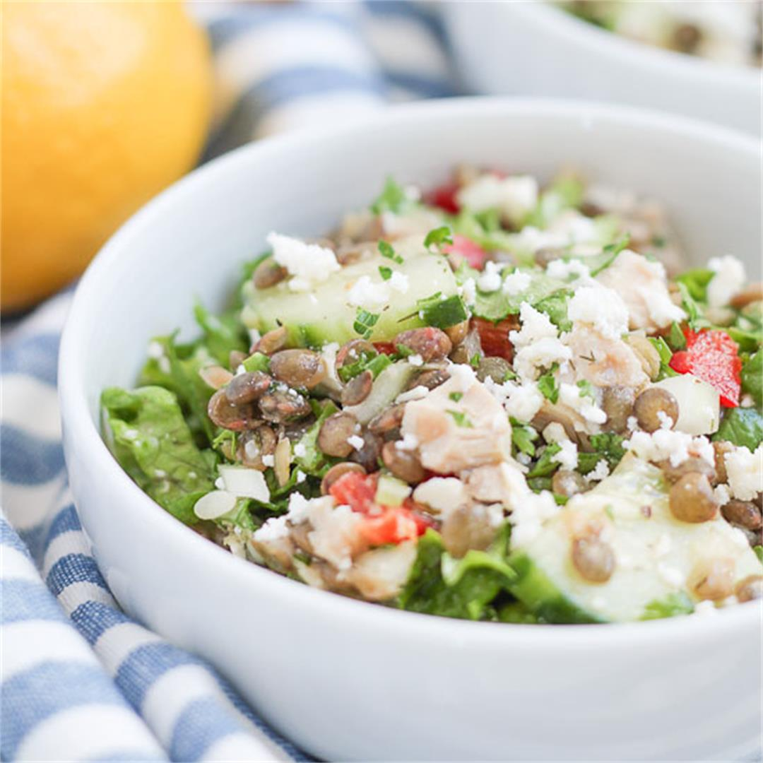 Greek Chicken and Lentil Salad