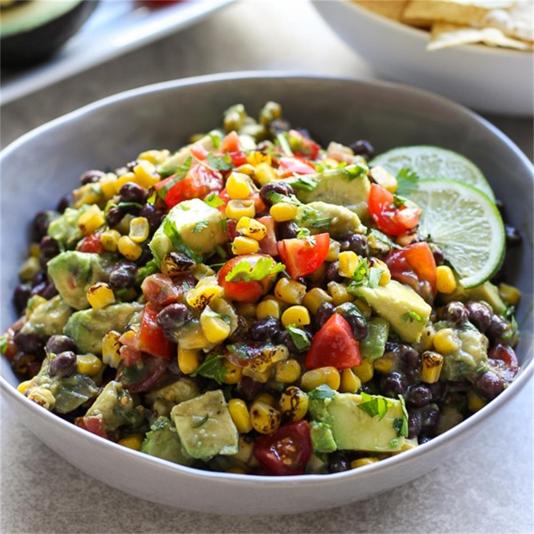 Avocado Corn and Black Bean Salsa
