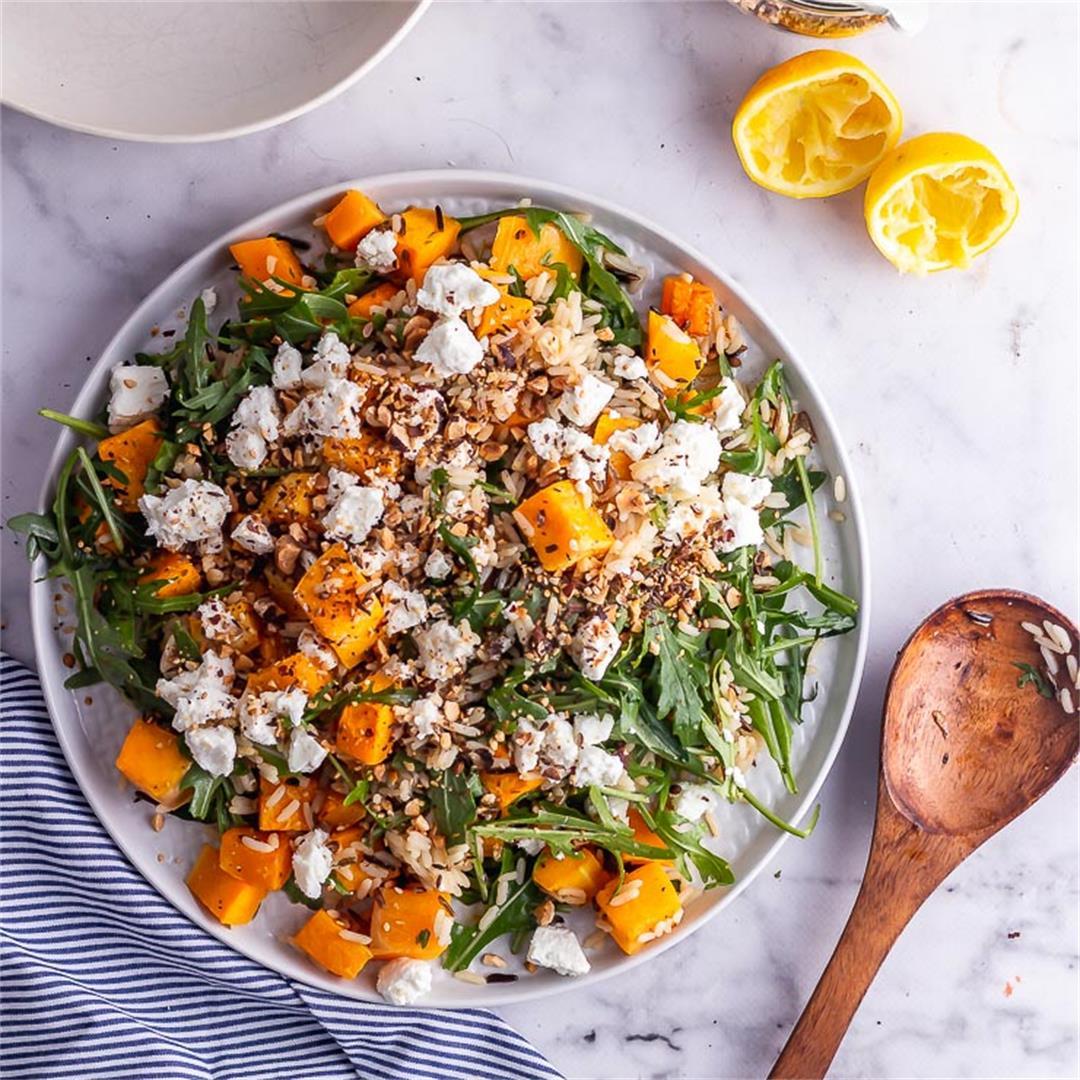 Butternut Squash Salad with Wild Rice