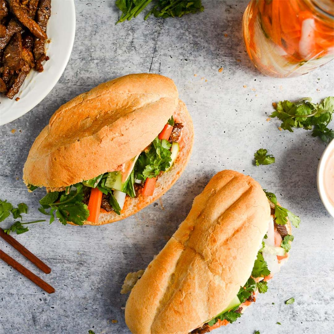 Lemongrass Beef Banh Mi: Wanderings in My Kitchen