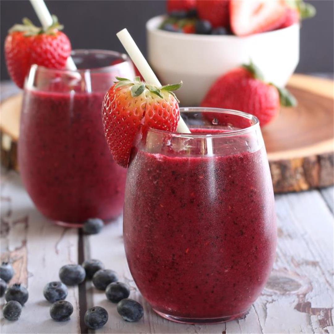Non Alcohol Berry Bellini-low carb, paleo, keto