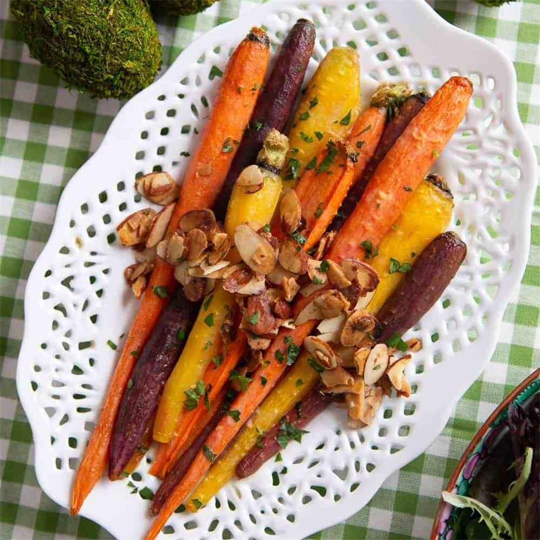 Brown Sugar Glazed Carrots with Toasted Almonds