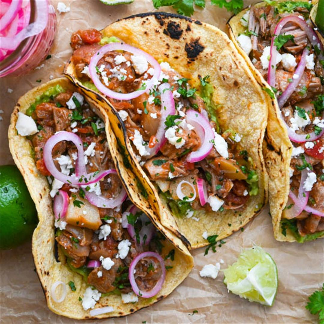Tinga-Style Pork Shoulder Tacos