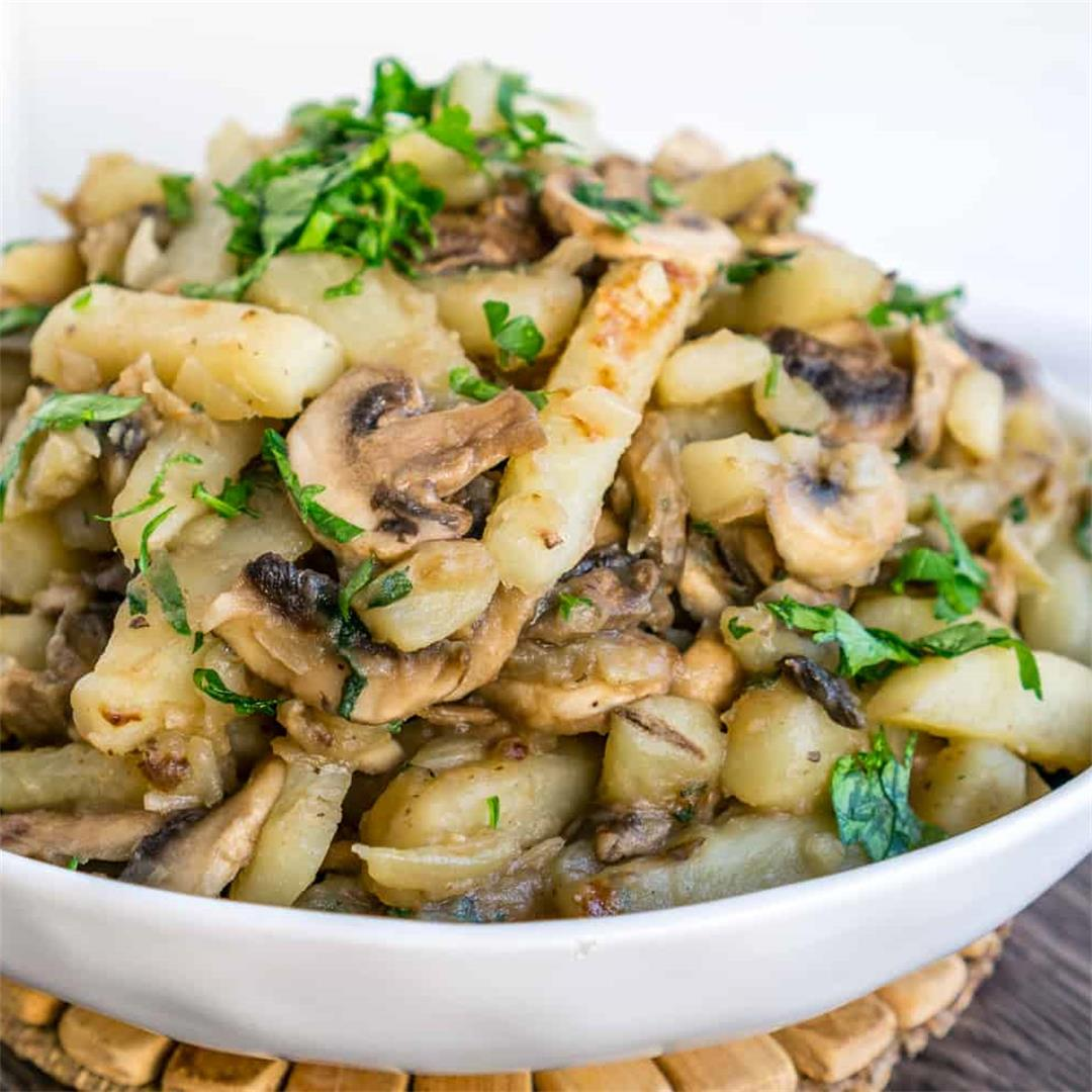 Sauteed Potatoes with Mushrooms