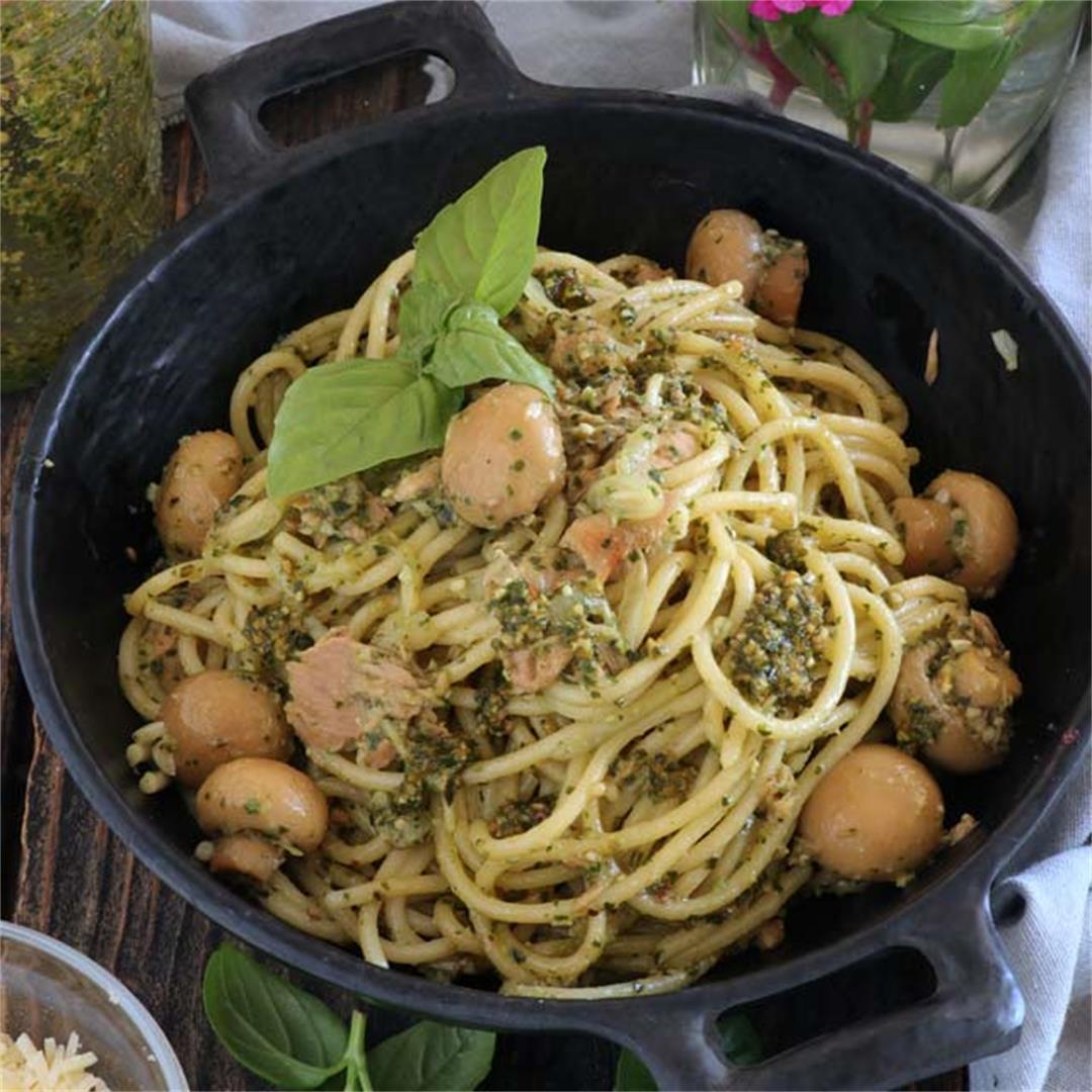 Pesto Pasta with Tuna
