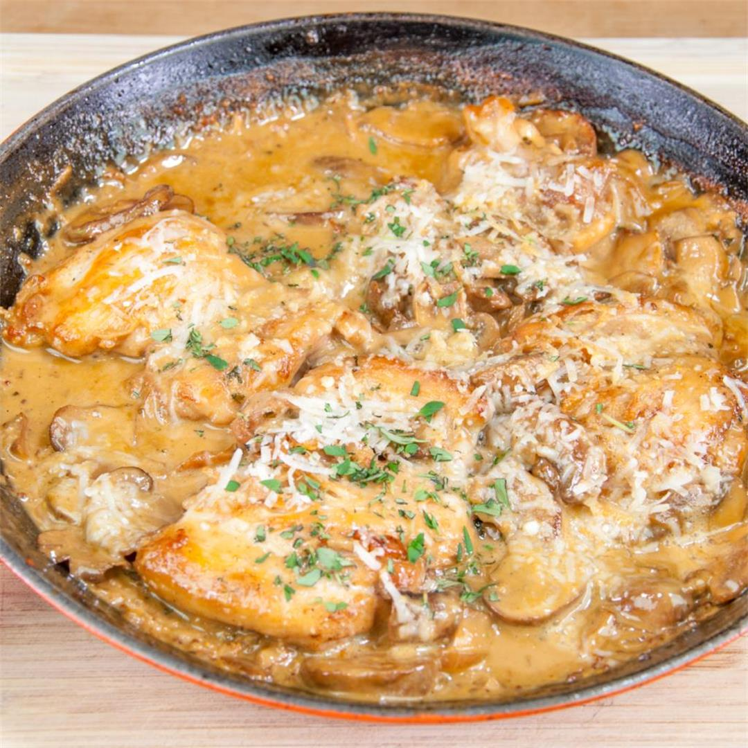 Creamy Sherry and Thyme Chicken Thighs